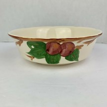 """Franciscan Apple 8 3/4"""" Round Serving Bowl Footed England Scalloped Edge - $24.48"""