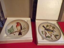2 Goebel Wildlife Plates in Box-#1 Robin, 1973 & #2, Blule Titmouse, 1974 - $24.75
