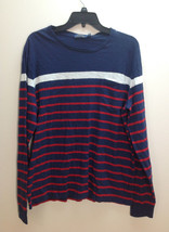 $80 POLO RALPH LAUREN Cotton T-Shirt, Navy Multi, Size L - $49.49