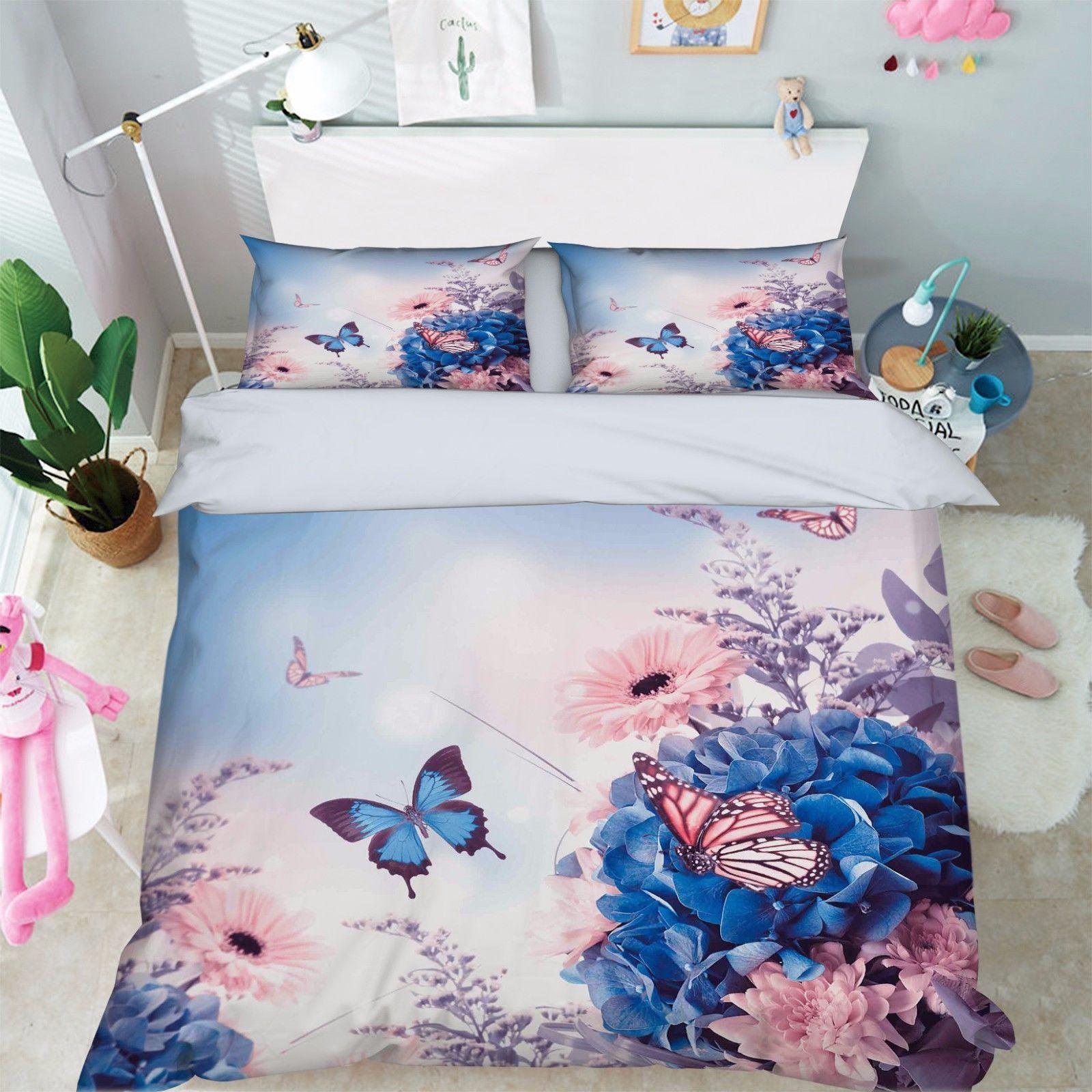 3D Mountain Bear Bed Pillowcases Quilt Duvet Cover Set Single Queen King Size AU