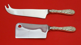 Rose by Stieff Sterling Silver Cheese Server Serving Set 2pc HHWS  Custom Made - $119.00