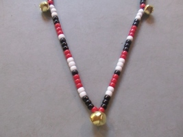 THE CHIEF ~ HORSE RHYTHM BEADS ~ Red, White, Black ~ Size 54 Inches - $17.00