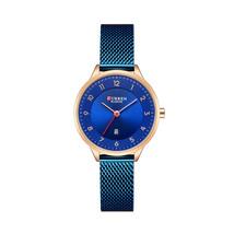 CURREN 9035 Date Display Simple Design Women Wrist Watch Full Steel Quartz Watch - $22.51