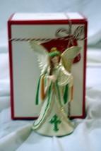 """Lenox 2018 Shannon Of Ireland Angel Christmas Ornament NIB 5"""" - $24.29"""