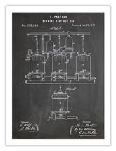 LOUIS PASTEUR BREWING BEER POSTER BLACKBOARD PASTEURIZATION 1873 PATENT ... - $24.65