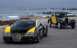 2017 Bugatti Grand Sport Vitesse yellow and black 24X36 inch poster, spo... - $18.99