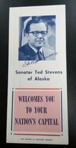Senator Ted Stevens Autograph - Signed Vintage Washington DC Tourist Guide - $34.65