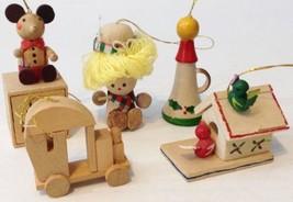 Vintage Wooden Christmas Ornament Mouse Birdhouse Lot A1 - $7.91