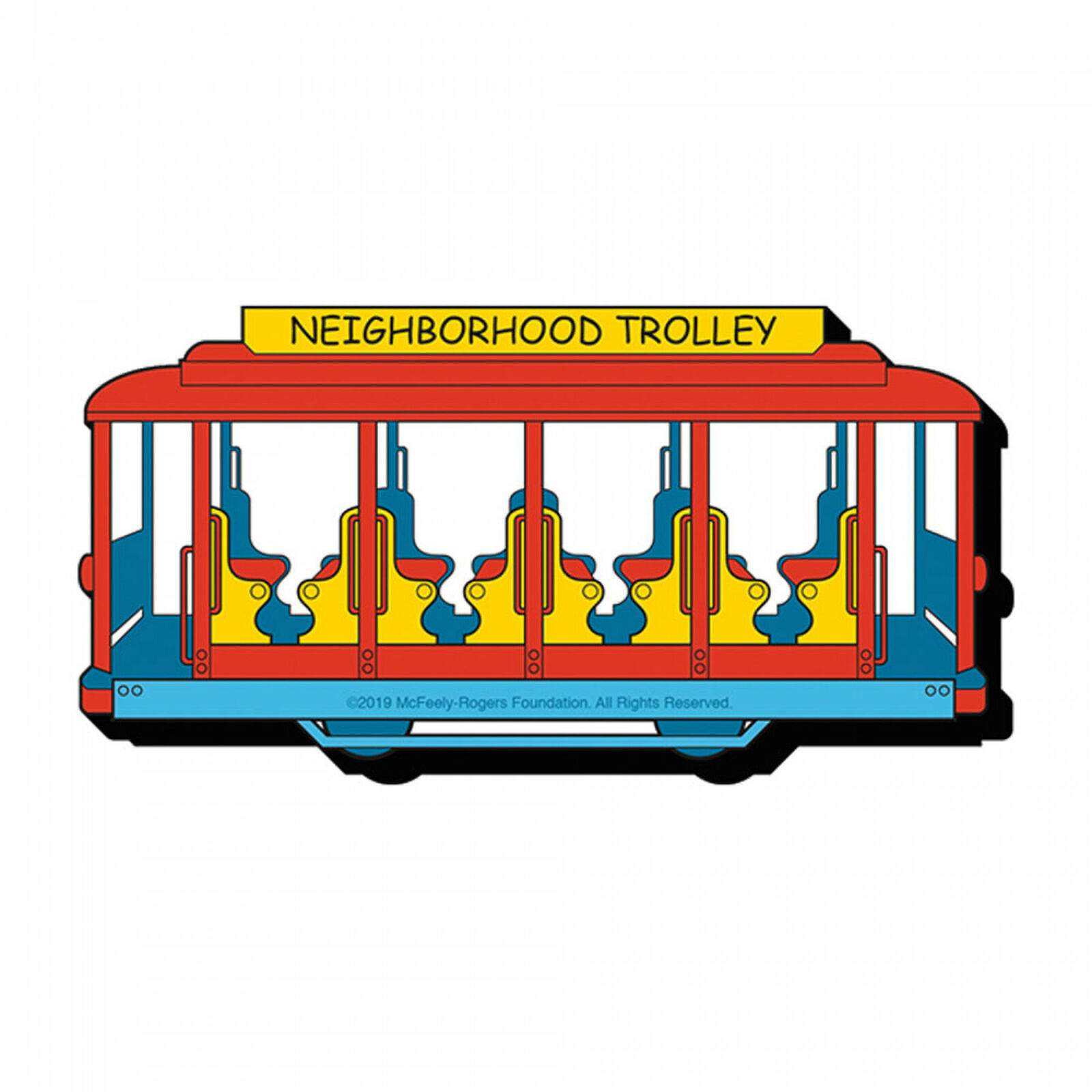 Mister Rogers Neighborhood Trolley Magnet Red - $11.98