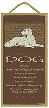 "Advice From a Dog - 5"" x 10"" Wood Plaque, Sign - Officially Licensed Fro... - $12.86"