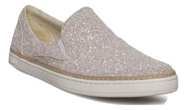 Ugg Adley Powder Chunky Glitter Leather SLIP-ON Sneakers Size 5 - $135.70 CAD