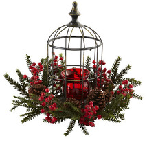 Nearly Natural Pine Berry Birdhouse Candelabrum - $90.56