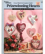 7 Prizewinning Hearts BH&G Cross Stitch Pattern Booklet #77 - $2.86