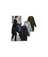 Misslook Women's Zip Up Hooded Long Sweatshirt Jacket Dress Charcoal Siz... - $19.79