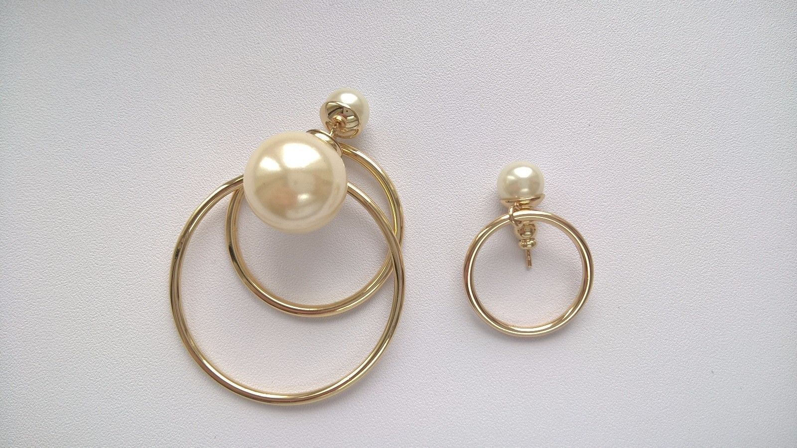 Authentic Christian Dior Mise En Dior Tribal Hoop Pearl Earrings