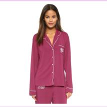 Wildfox Couture Buona Notte Classic Pajama Top in Dark Purple,  Large - $34.10