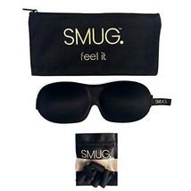 SMUG Contoured 3D Blackout Sleep Mask/Eye Mask, Storage Bag, and Ear Plu... - $20.23