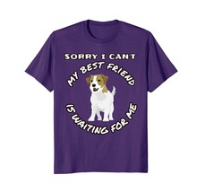 My Best Friend Jack Russell Terrier Dog Waits Brigh T-Shirts - $17.99+