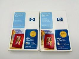 "HP Premium Plus Lot of 2  4"" x 6"" Glossy Inkjet Photo Paper 60 sheets 10mil New - $13.99"