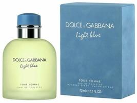 D  G Light Blue By Dolce  Gabbana For Men, Eau De Toilette Spray, 2.5-Ou... - $56.28
