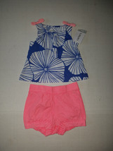 Carter's Baby  Infant Girls Two Piece  Size 3M  NWT Pink And Blue - $8.44