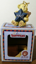 Rare! 2006 Boyds Lil' Bearmericans Peace Bear with Angel Wings Ornament~ NIB - $19.75