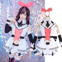 YouTuber Channel Virtual Kizuna AI A.I. Uniform Dress Full Set Cosplay C... - $49.99