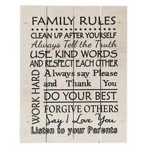 """Family Rules Pallet Wood Sign ~ Farmhouse Family Sign ~ 12"""" - $26.95"""