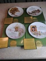Avon  Anniversary 5th 10th 15th 20th Plates 22k Gold Porcelain   - $98.95