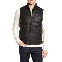 Sleeveless Men Leather Vest