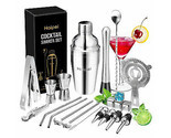 22PCS/Set Cocktail Shaker Boston Maker Bartender Martini Mixer Making Tool Bar T