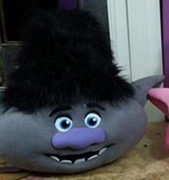 Trolls Branch Mascot Costume Trolls Adult Costume