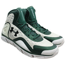 Under Armour Spine Bionic Basketball Shoes Mens Siz 14.5 Green White 124... - $49.45