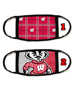 Wisconsin Badgers Face Mask with black string reusable washable #12 - $14.54+