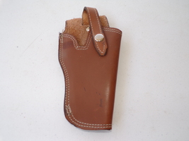 9mm Caliber Hand Made Right Handed Brown Top Quality Leather Gun Holster  - $24.99