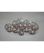 Rhinestone Hair Clip, Gold Base, Womens Hair Accessories, Wedding Hair A... - $19.99
