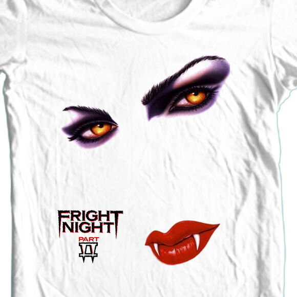 Fright Night II T-shirt retro horror movie 100% cotton gore film free shipping