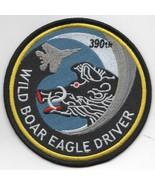 "4"" USAF AIR FORCE 390FS WILD BOAR EAGLE DRIVER BLUE EMBROIDERED JACKET P... - $18.99"
