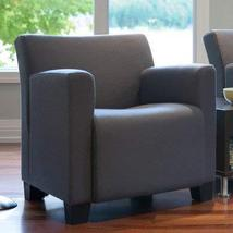 Jenny Upholstered Lounge Chair Fabric Color: Buzz2 - Grey, Leg Finish: S... - $872.00