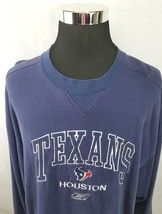 REEBOK HOUSTON TEXANS EMBROIDERED LOGO  CREW NECK BLUE SWEATSHIRT Men's 2XL - €12,22 EUR