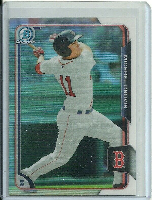 2015 BOWMAN CHROME REFRACTOR #133 MICHAEL CHAVIS RC RED SOX FREE SHIPPING