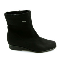Ara Womans Gore-Tex Ankle Boot Black Textile Side Zipper Cushioned Insol... - $98.59