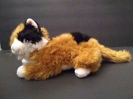 TY Classic Carley Calico Cat Plush Soft Toy Retired 2000 Gold Orange Black - $26.72