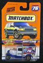 1998  Matchbox  Model A Ford  Special #76 Edition Hershey Toy Show   MB-2-122117 - $3.50