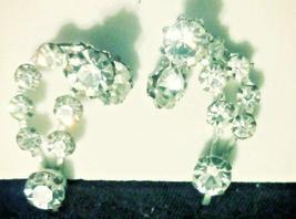 Vintage Rhinestone Silver Tone Screw Back Earrings AUSTRIA Estate Jewelry - $26.00