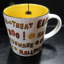 2007 Starbucks Halloween Trick or Treat Orange Eek Boo 16 oz Coffee Mug - $19.99