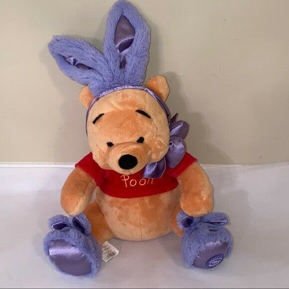 "Primary image for 15"" Winnie the Pooh Plush Easter Bunny Decoration"