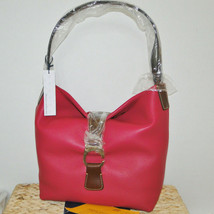 Dooney & Bourke Derby Pebble Leather Hobo **STRAWBERRY** - $248.00