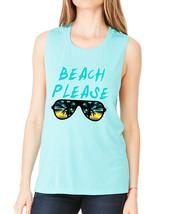 Women's Flowy Muscle Top Beach Please Summer Beachwear - $19.94+