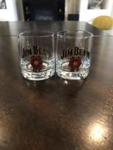 2 Jim Beam Michael Andretti Facsimile Autographed Shot Glasses - $11.88